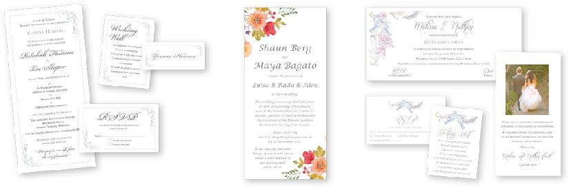 Wedding stationery -  everything you need from Color on Demand