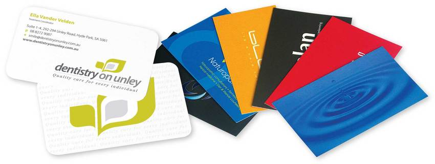 Business Cards - select specialty finishes, laminate, foil lettering and other enhancements
