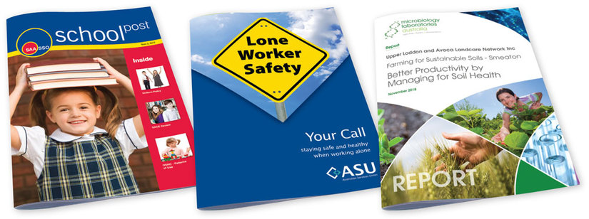 Booklet making for annual reports, magazines, tenders, newsletters & product catalogues