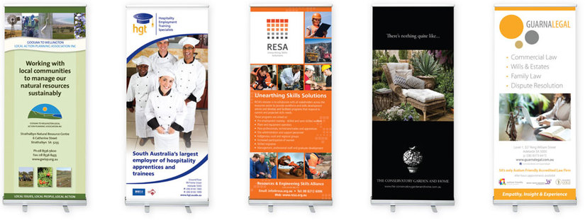 Colourful display banners designed by Color On Demand