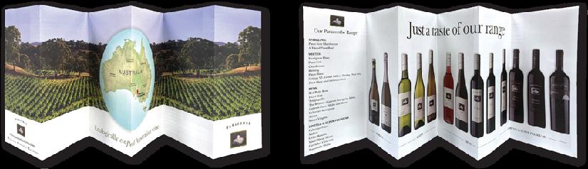 Folded brochures - concertina folds