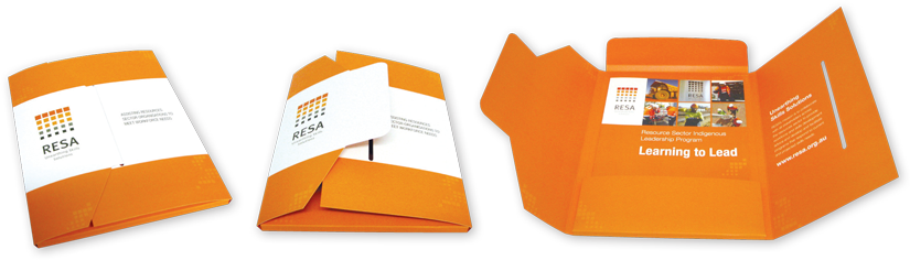 Die Cut options for your presentation folders