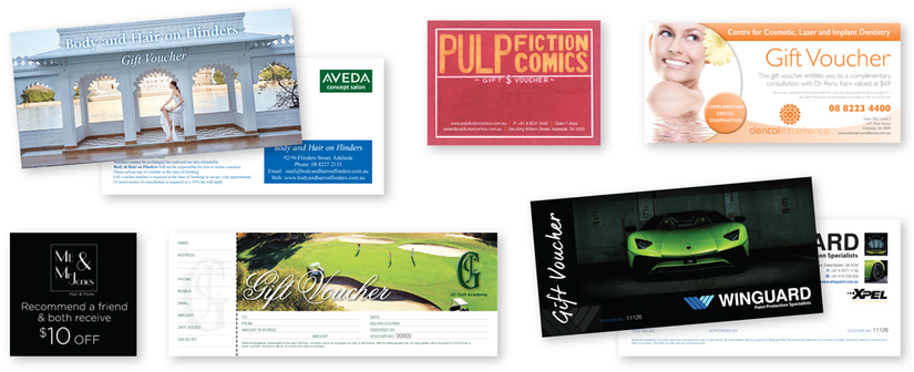 Gift vouchers promote your business